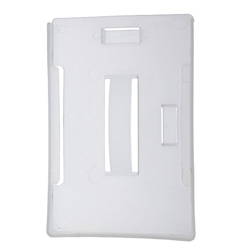 Lightweight Semi-Hard Plastic Holder for Multiple ID Badges (Up to 4 Standard Cards) Hangs Vertical or Horizontal by Specialist ID (Sold Individually)