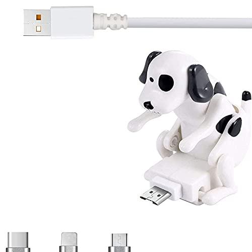 Rogue Dog Data Cable, Smartphone USB Cable Cargador, Mini Humping Spot Dog Cable de Carga para teléfono para iPhone, Samsung, Huawei Varios Modelos de teléfonos (Blanco, Tipo-C)