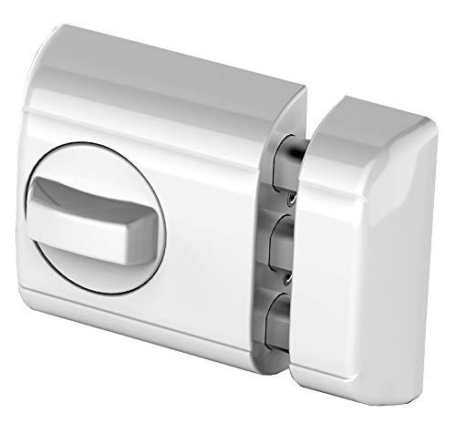 Lince Cerrojo Seguridad Blanco SOBREPONER Supra-Especial para Puertas de Aluminio y PVC
