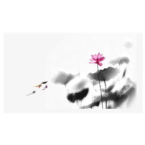 Taschentuchmalerei des chinesischen Stils Moderne minimalistische abstrakte Tuschelandschaftsmalerei-Tapete