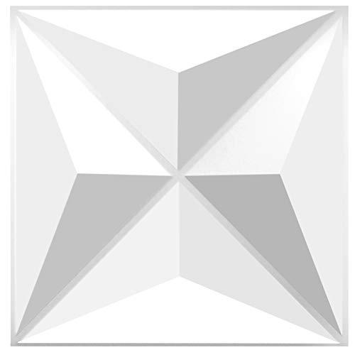 BXI TroyStudio Akustik-Sound-Diffusor, verschiedene Farben, 300 x 300 x 25 mm, 4 Stück (Dreieck)