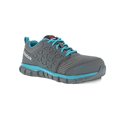 Reebok Work Women's Sublite Cushion Safety Toe Athletic Work Shoe Industrial, Grey, 7.5 W US