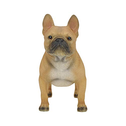 "Comfy Hour Doggyland Collection, Miniature Dog Collectibles 6"" Standing French Bulldog Figurine, Realistic Lifelike Animal Statue Home Decoration, Fawn Brown, Polyresin"
