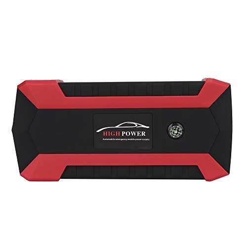 Qiilu Car Power Bank, 20000mAh Multifuncional Car Jump Starter 4 Cargador USB Batería 12V Banco de energía 110V-240V(EU)
