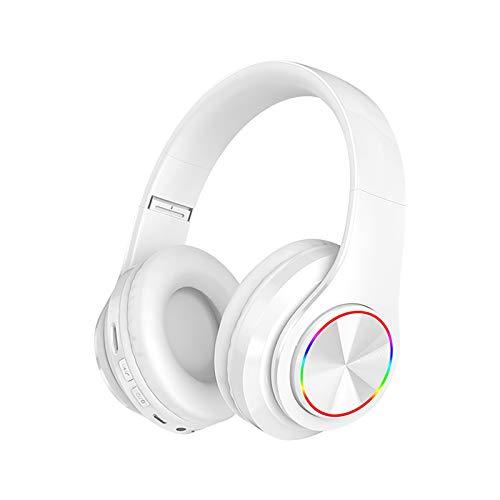 Dreamyam Bluetooth 5 Kopfhörer,Drahtlose Bluetooth-Kopfhörer mit Rauschunterdrückung über Ohr-Stereo-HiFi-Kopfhörer Erkennung IPX Wasserdicht IntegriertemHeadset,Mit Mikrofon Sportkopfhörer
