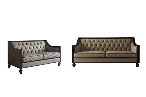 Esofastore Contemporary Design Living Room Furniture 2pc Sofa Set Diamond...