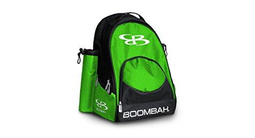 Boombah Tyro Baseball/Softball Bat Backpack - 20' x 15' x 10' - Black/Lime Green - Holds 2 Bats up to Barrel Size of 2-5/8'