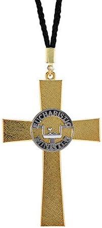 Christian Brands Eucharistic Minister Cross Service Symbols Metal Pendant with Nylon Cord