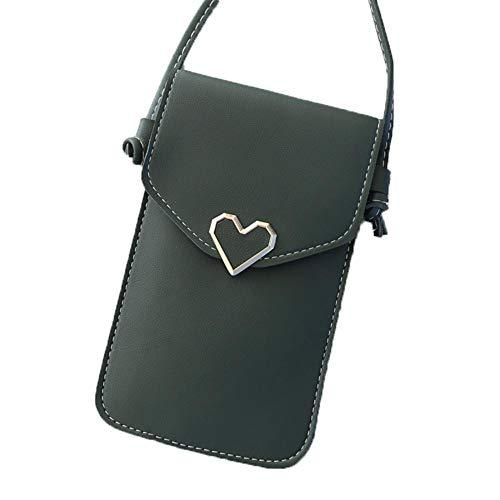 Damen Crossbody, Ledertasche, Tragbare Handytasche Umhängetasche Mit Telefon-Touchscreen-Tasche