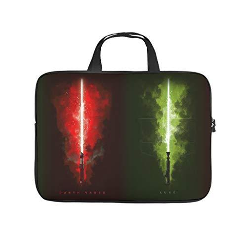 Darth Vader Luke Lichtschwerter Star Wars Laptoptasche Stoßfest Notebook Sleeve Muster Notebooktasche für Uni Arbeit Business White 17 Zoll