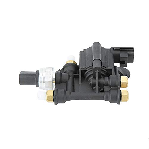 Válvula de solenoide RVH000046 Bloque de válvula de solenoide de control de suspensión de aire del coche apto para LR3 LR4 Discovery 3 4 Sport 2005-2013