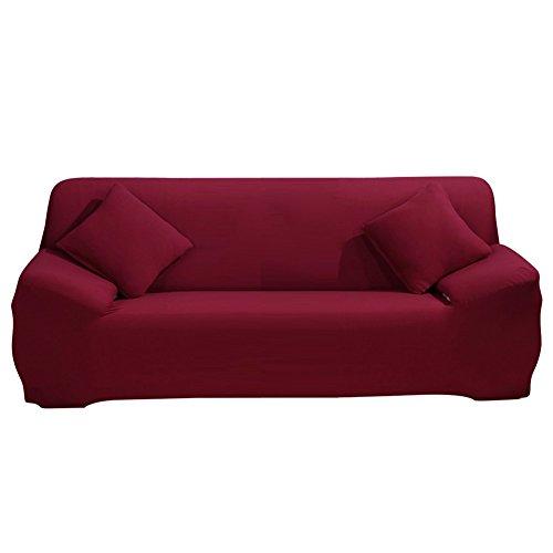Paracity stretch Housse de chaise Fauteuil 3 place Tissu Slipcover protecteur Slipcover, Red, 3 seater:185-230cm