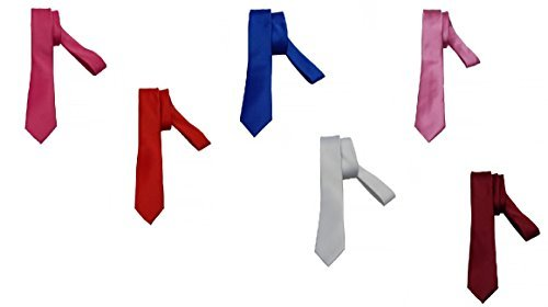 Chance SAS 2 Cravatte Sottili Raso Uomo Vari Colori 1061