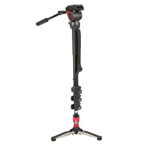 Monopie para cámara MQA, monopié para cámara sin espejo, monopié de aleación de aluminio, toma panorámica de 360 °, monopié con rótula de bola fluida, para DSLR/cámara sin espejo/cámara digital/vide
