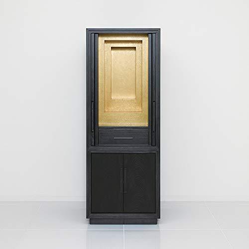 モダン仏壇 床置タイプ 栓 紫檀色 内金仕上げ 42−16