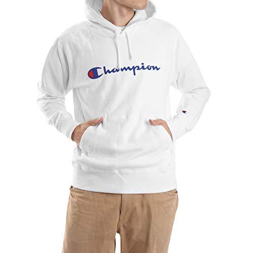 [チャンピオン] (旧モデル) パーカー スウェット 裏毛 定番 スクリプトロゴ フーデッドスウェットシャツ C3-J117 メンズ ホワイト M