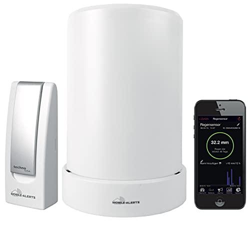 Technoline MA10040 Regenmesser Komplett-Set, Gateway und Funk-Regensensor mit kostenloser App für das Smartphone, weiß