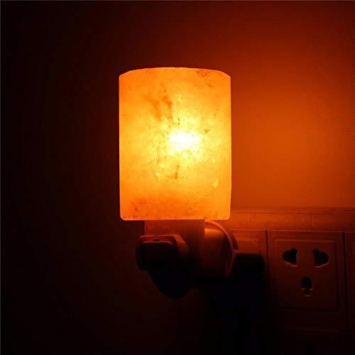 EMOHKCAB 15w Sel Nuit Lumière Cristal Naturel Lampe Purificateur d'air Décoration Murale À La Maison, UK Plug 220V