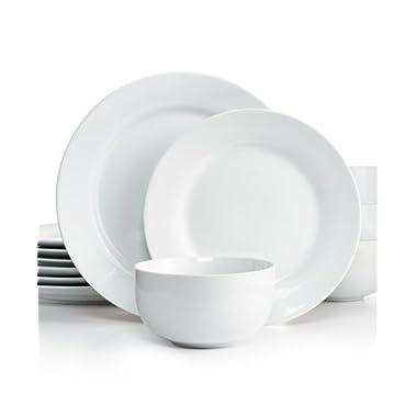 The Cellar Dinnerware, Rim Whiteware 12 Piece Set