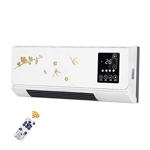 CSGJRQ 2000W keramische verwarming, geïntegreerde kamerthermostaat, infrarood verwarming, draagbaar met intelligente afstandsbediening tegen hitte, bescherming voor thuis en op kantoor Without Hanger