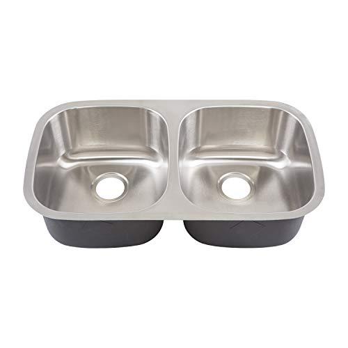 Yosemite Home Decor MAG502 18-Gauge Stainless Steel Undermount Double Bowl Kitchen Sink