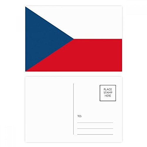 DIYthinker Tsjechië Nationale Vlag Europa Land Postkaart Set Verjaardag Thanks Card Mailing Side 20 stks 5.7 inch x 3.8 inch Multi kleuren