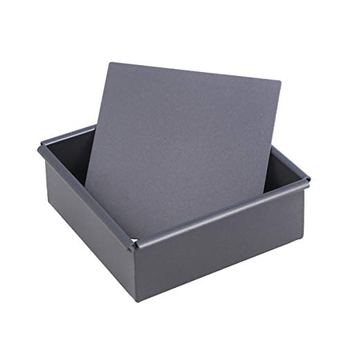 UPKOCH Cake Square Pan with Removable Bottom Zinc Alloy 7 Inches Cake Mold Dessert Biscuits Cake Making Baking Cooking Tool