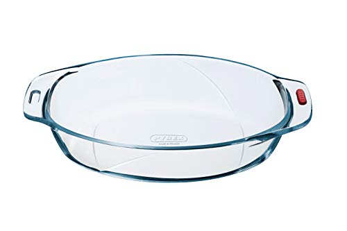 Pyrex Reflections - Irresistible Glass Oval Roaster Pie Serving Dish High Heat Resistance - L32 x W19 x H6cm, 1.9L