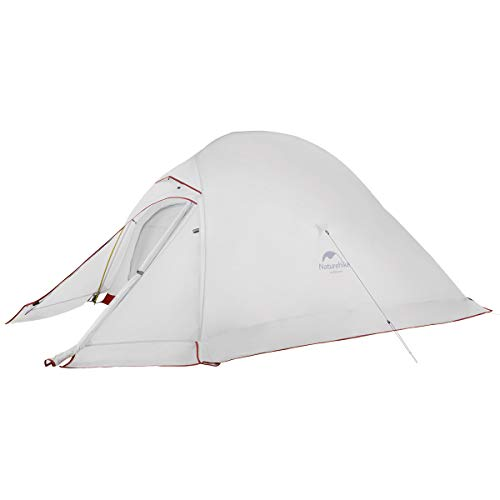 Naturehike Cloud-Up 3 Person Lightweight Backpacking Tent with Footprint with Snow Skirt - 4 Season Free Standing Tent Ultralight 20D Silicone Coated Waterproof Backpack Camping Tent