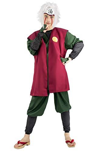 DAZCOS US Size Adult Jiraiya Anime Cosplay Costume (Medium)