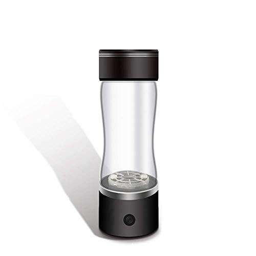 KENL Tragbare SPE PEM Membran Wasserstoffbecher Reichhaltiges Wasser Generator Ionisator Maker Schwarze Flasche USB Wiederaufladbare Glastasse