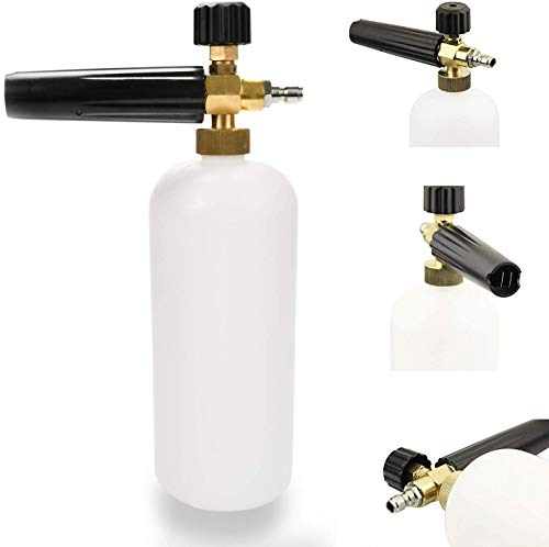 """Ruler Foam Cannon Lance with 1/4"""" Standard Quick Connector for Pressure Washer Gun with 1 Liter Bottle, Professional Grade, Quick Release (Up to 3200 PSI)"""