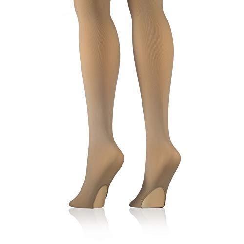 FICELLO Women's Suntan Convertible Tights Dance Ballet Stretchable Ultra Soft Leggings