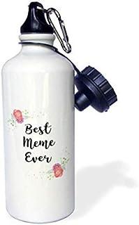 GFGKKGJFD612 Love Series – Botella de Agua de Aluminio con diseño de Flores Rosas y Texto en inglés Best Meme Ever