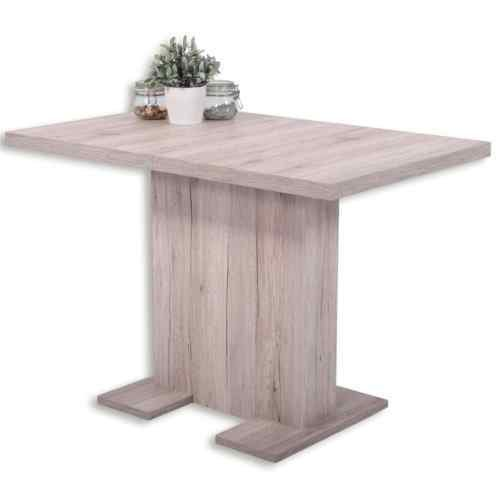Eternity-Moebel24 Esstisch Säulentisch - Bugsy - Ausziehtisch Esszimmertisch Tisch ausziehbar in Sandeiche
