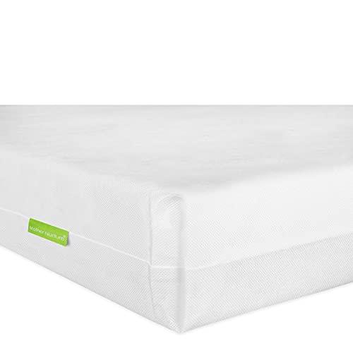 Mother Nurture Essential Eco Fibre Cot Mattress, White, 120 x 60 x 10cm