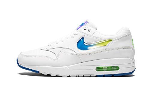 Nike Air Max 1 SE Mens Shoes White/Photo Blue/Lime Blast ao1021-101 (13 D(M) US)