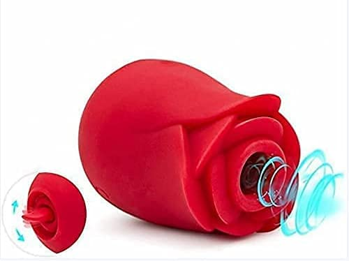 Rose Tongue Vibrant Licker Rose Shape Rechargeable Adult Toys for Women-Pink,Powerful Tongue Suck & Lick 10 Mode Nipple Sucker G Sucking Toy for Women Couples -f4g