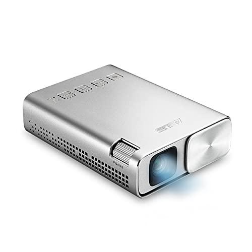 Projetor de LED ASUS ZenBeam E1, 150 lúmens, bateria de 6000 mAh, projeção de 5 horas, banco de energia, correção de tecla automática, HDMI/MHL