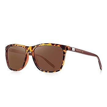 MERRY S Polarized Sunglasses for Women Aluminum Men s Sunglasses Driving Rectangular Sun Glasses for Men/Women  Leopard 56