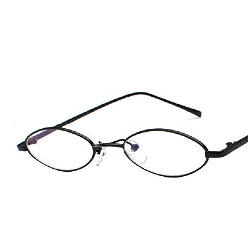 Gafas De Sol Gafas De Sol Pequeñas Ovaladas Steam Punk para Hombre, Gafas De Sol Vintage Retro para Mujer, Gafas De Sol Uv400 Blackclear