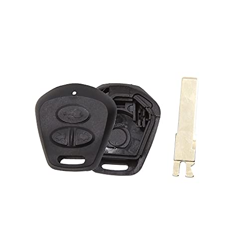 uxcell New 3 Buttons Uncut Insert Key Fob Remote Control Case Shell Replacement for Porsche Cayenne 911 996 Boxster S 986