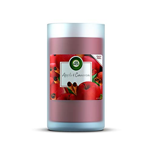 Airwick New Pillar Candle Apple and Cinnamon Up To 60 Hours Burn Time