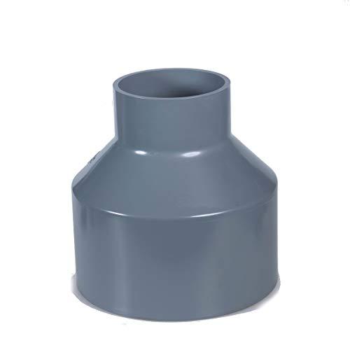 PVC Rohr und Rohrverbinder Ø63mm Winkel, Kniestück, Muffen, T-Stück, Kappen Fittings (Red.STK. 50mm x 63mm)