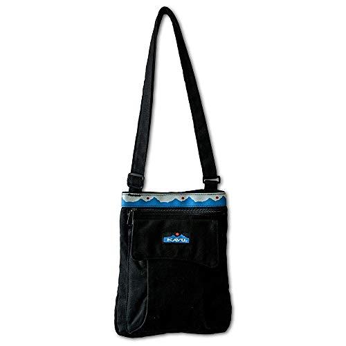 KAVU Keeper Semi Padded Sling Canvas Crossbody Bag - Black