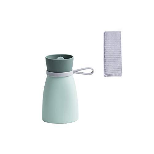 Bolsa De Agua Caliente | Botella De Agua De Gran Capacidad, Bolsa de Agua Caliente con Cubierta de Felpa Suave, para calambres y alivio del dolor. 380ML Verde.