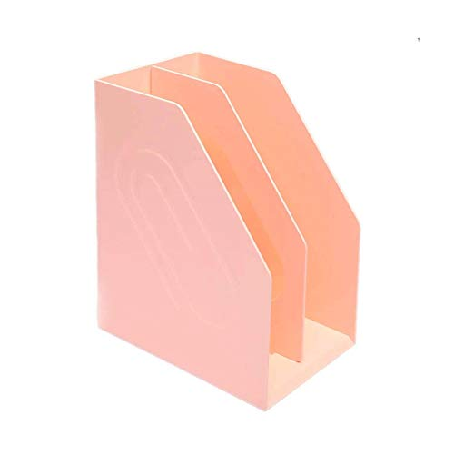 WCJ Standing Collectors, Blauw, Roze, Wit, A4 Bestandshouder Dikke Plastic Boekenplank Eenvoudige Tafelmap Data Box Boek Opbergdoos Desktop Mode Kantoor