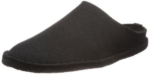 Haflinger Flair Smily, Pantoffeln, Unisex-Erwachsene, Filz aus reiner Wolle, Schwarz (Schwarz 03), 39 EU