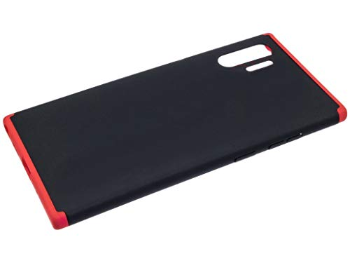 """Capa Capinha Anti Impacto 360 Para Samsung Galaxy Note 10 Plus com Tela de 6.8"""" Polegadas Case Acrílica Fosca Acabamento Slim Macio - Danet (Preto com Vermelho)"""