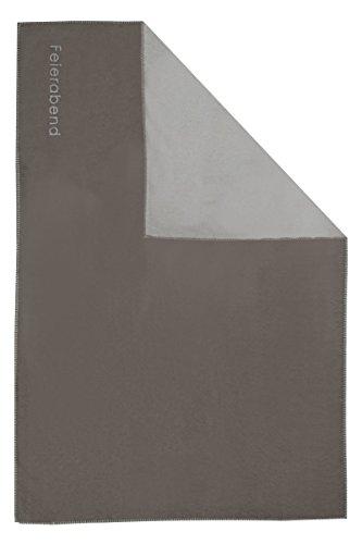 David Fussenegger - Sylt BW- Decke - Wohndecke - Feierabend - Baumwollmischung - Farbe: Rauch - 140 x 200 cm